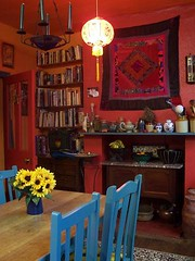 kitchen (Romany Soup) Tags: kitchen sunflowers patchwork