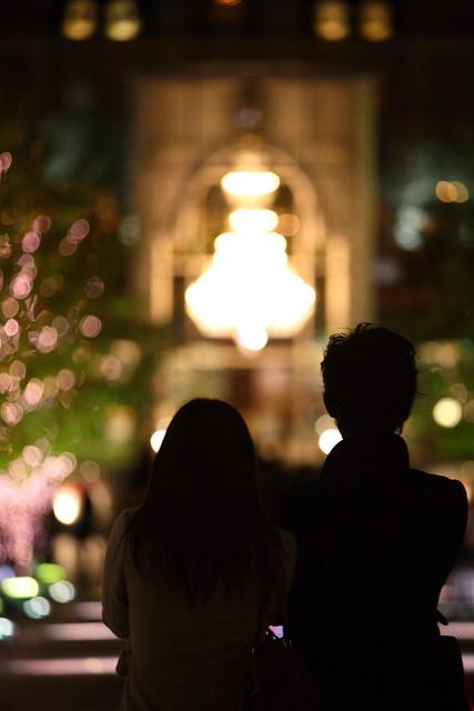 暖色の夜灯り