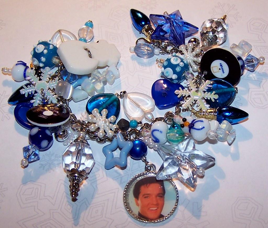 BLUE CHRISTMAS Artisanal Charm Bracelet