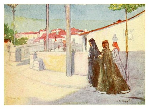 008--El puente en Thomar-Through Portugal 1907- A.S. Forrest