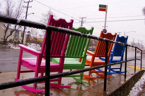 Colorful Rocking Chairs, New Hampshire at Devonshire