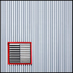 Exhale (Tailer Ransom) Tags: red 2 abstract color brick lines boston wall canon vent eos nikon massachusetts south gray perspective warehouse explore 7d charlestown variety minimalism import frontpage eclectic corrugated ransom xsi export williamscollege lockwood tailer ministract tailerransom topabstract