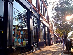 walkable commercial district, Alexandria, VA (by: Christine Crizsa, creative commons license)