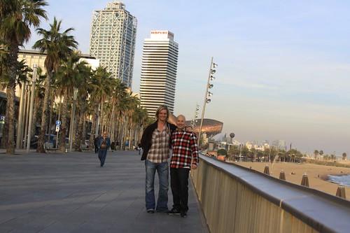 Mig og Dennis i Barcelona.