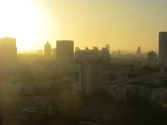 sun setting on TLV