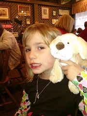 A trip to Cracker Barrel and a new webkinz makes a happy girl