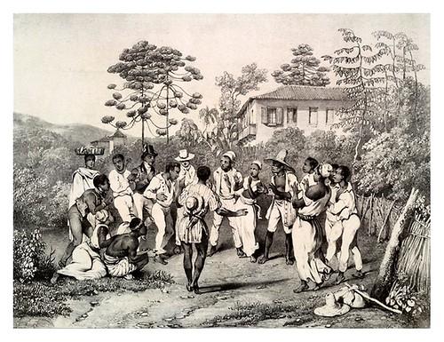 021- Danza batuca- Villeneuve Louis Jules-Frédéric- Viagem pitoresca através do Brasil 1835