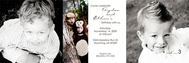 3rd birthday invite