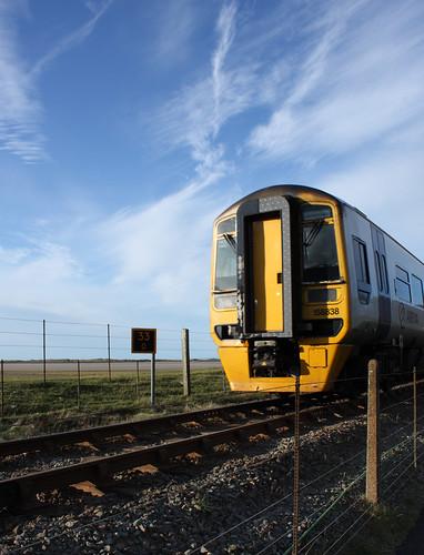 Train approaching Morfa Mawddach