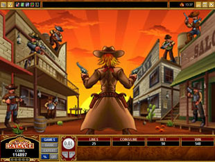 free Sunset Showdown bonus game