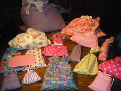 Sophia's Birthday - Fabric Gift Bags