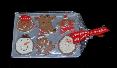 gingerbread cookie tray ornaments