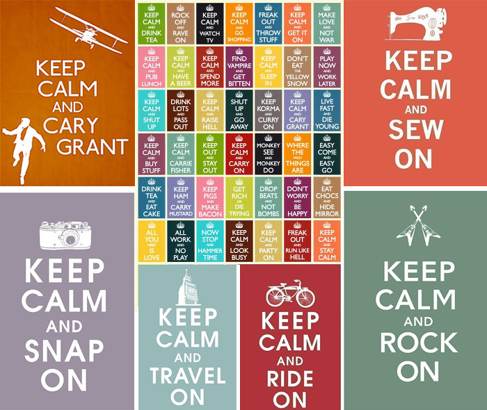 keep calm mosaico