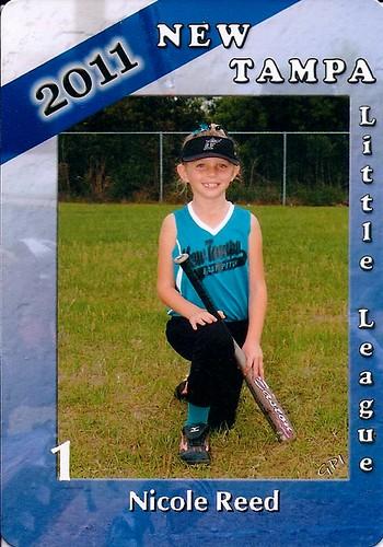 Nicole 2011 softball card