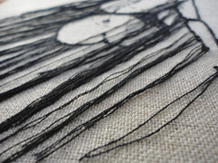 Thread Sketch 1  Close-up (andreafarina) Tags: art thread nude embroidery mixedmedia sewing canvas textile figure stitching knots