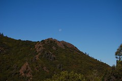 Mt. Diablo State Park - Moon setting over the shoulder of Diablo