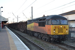 Colas Rail 56087 (Will Swain) Tags: uk travel england west train march warrington cheshire britain north transport bank trains quay 3rd 2014 colasrail56087