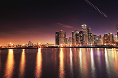 Navy Pier, Chicago (- Anita Ao) Tags: chicago navypier cityscape longexposure windycity slowshutter nisifilter usa architecture michiganlake chitown lights illinois downtownchicago chicagoatnight chicagoskyline chicagophotography
