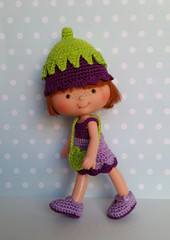 SSC Outfit Set Purple Bellflower (TeenyWeenyDesign/Adrianne) Tags: strawberryshortcake crochet handmade doll outfit