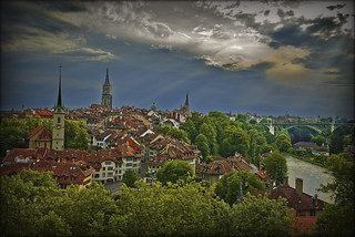 Bern June14,2009 : A view from the Rosengarten.