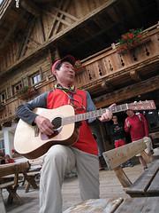 Enjoying at Jimmy Hut, Alta Badia, Dolomites