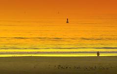 unto another shore (desertdragon) Tags: ocean sunset soldier pacific santamonica theperfectphotographer
