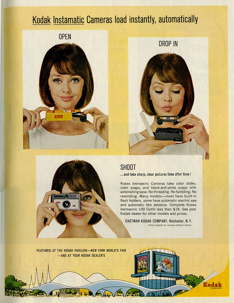 Kodak Instamatic Camera ad 1964_tatteredandlost