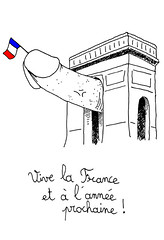 14-07-09 (Ronchhon) Tags: art illustration drawing dessin arcdetriomphe 14juillet ftenationale vivelafrance ronchhon