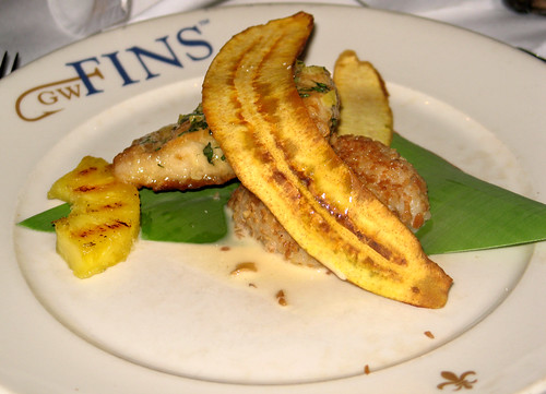 4th Course: Pineapple Basil Glazed Mahi