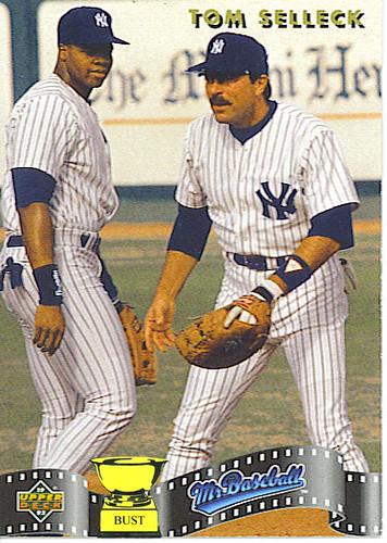 Baseball Card Bust Tom Selleck 1992 Upper Deck