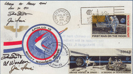 APOLLO 15 / FLOWN SIEGER MOON COVER