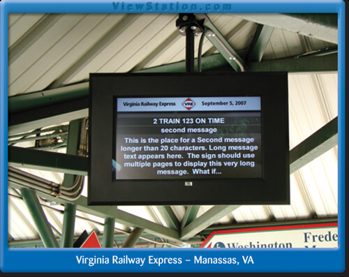 LCD Enclosure, viewstation at Virginia Railway Express - Manassas, VA