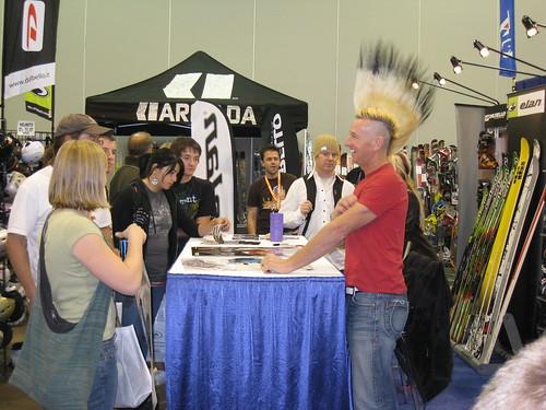 Glen Plake greets expo-goers in Denver