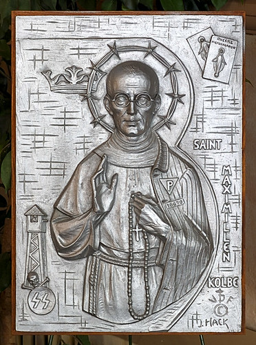 Icon of Saint Maximilian Kolbe, at Saint Stanislaus Kostka Church, in Saint Louis, Missouri, USA