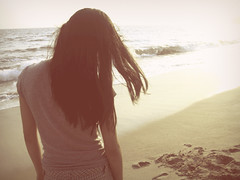 Day one hundred and twenty. (celeste li) Tags: ocean sunlight beach girl hair sand waves wind blowing bethanie celeste 365project threesixtyfive celestephotography