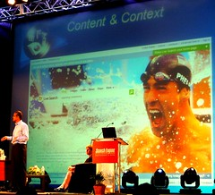 Nadella shows current popular content in Image Search: Michael Phelps