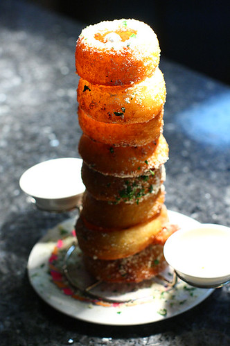A glorious tower of onion ring succulence.