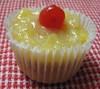 Vegan Pineapple Right Side Up Cupcake