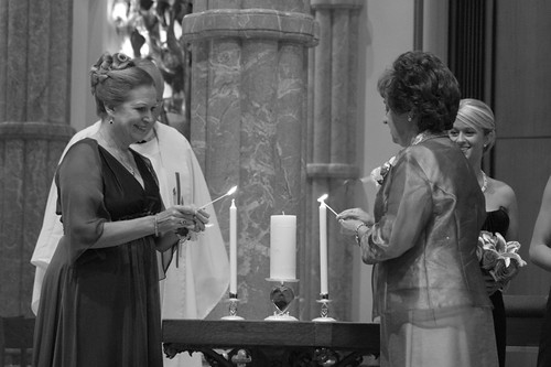 moms lighting the candles