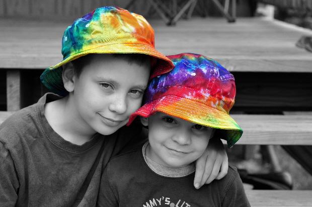 Tie dye hats