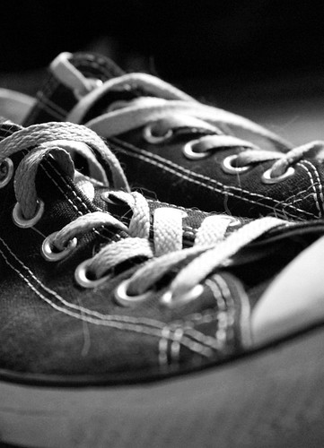 Converse Black and White three