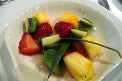 Fruit salad - first course at dinner