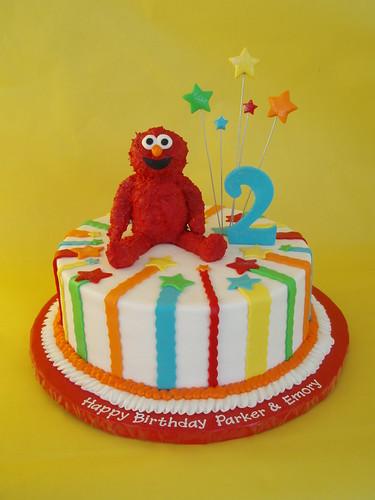 Elmo 2nd Birthday Cake