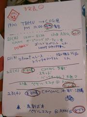 日程表 from まりえさん