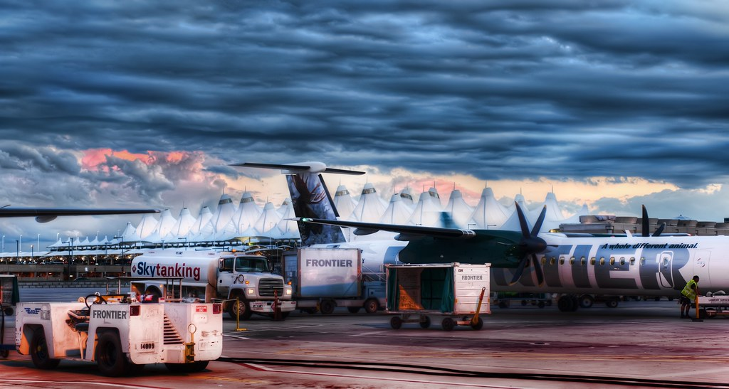 The Blue Storm Over Denver International Airport