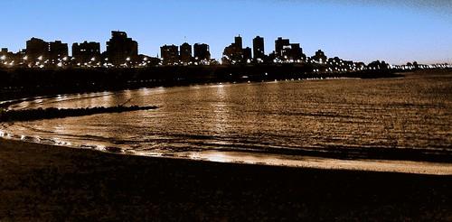 amanecer en mar del plata trabajado digitalmente