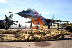 Mikoyan Mig-29. (stonefaction) Tags: scotland meetup display fife aircraft air airshow planes flickrmeet raf leuchars faved decs120909