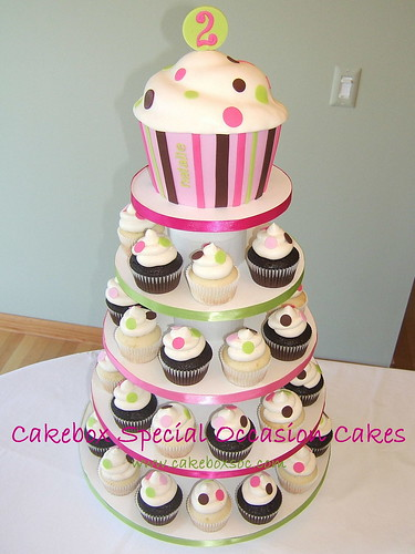 Natalie's Polka Dot Cupcake Tower