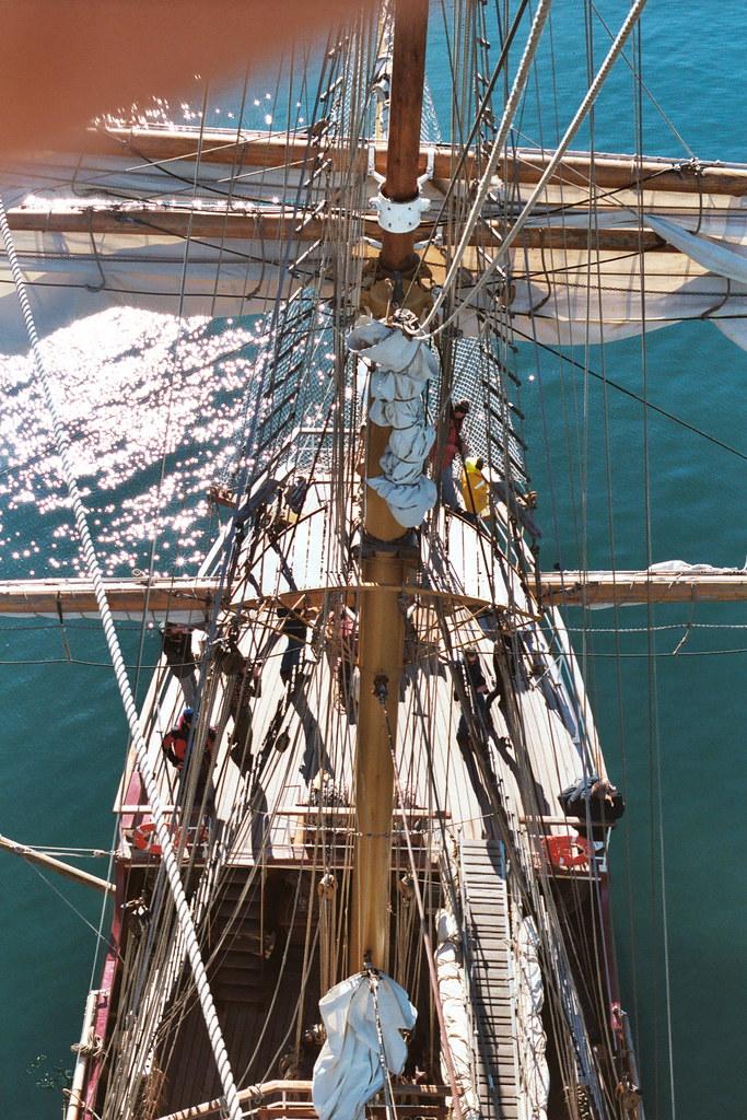 Cobblers Cove in a 56m sailing ship
