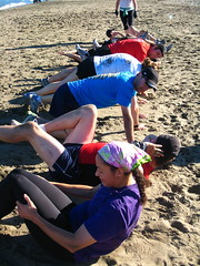 Stretching (KOI FITNESS) Tags: sanfrancisco bootcamp bakerbeach koifitness